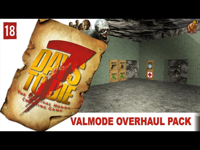 7 Days to Die 15 alpha Valmod ► 18 Охота на зомбей и зелёный гараж СТРИМ