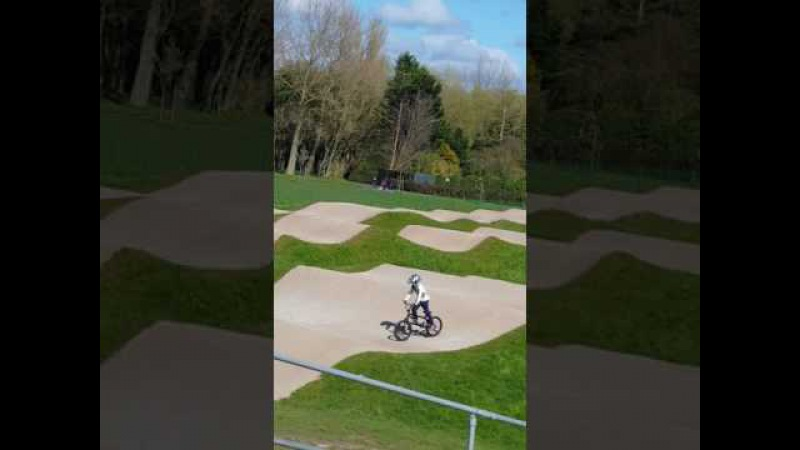Going down Stanley parks BMX TRACK on my new bike