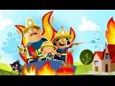МУЛЬТИК ПРО ПОЖАРНЫХ - Пожарная машинка и пожарные - Мультфильм для детей