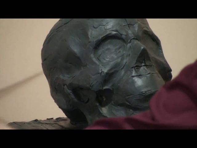 Уроки скульптуры и рисунка лепка черепа человека детализация часть 1