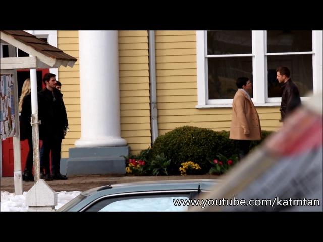 6 сезон: съёмки эпизода 6х18 – «Где летают синие птицы», Стивестон, Канада, 14 февраля 2016 год.[1]