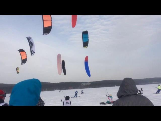 Крылья 2016 зимний кайтинг Миасс