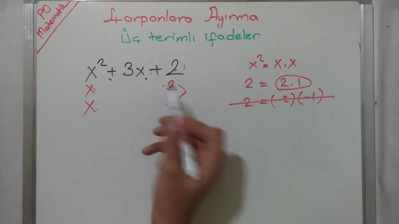 8. Sınıf Çarpanlara Ayırma 2. Video (TEOG 2. Sınav)