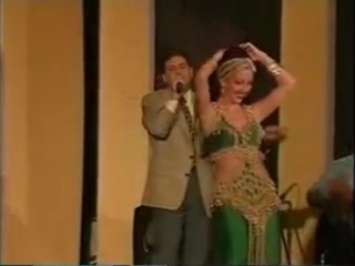 Amani, Lebanese Belly dancer in Baladi style dance, Germany 1996 8743
