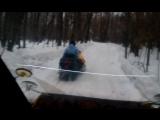 как снегоход тянет газель валдай