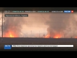 На горящем украинском арсенале не прекращаются взрывы