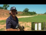 Jerry Miculek making a 1000 yard shot with a Barrett .50 cal FROM A STANDING POSITION.