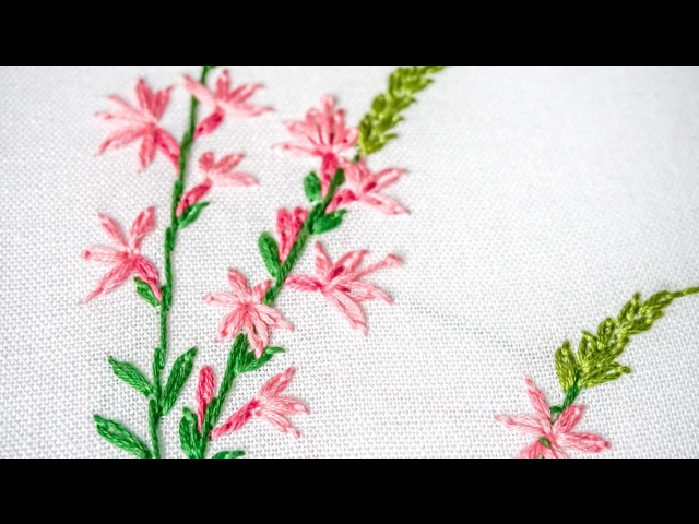 Hand Embroidery for Beginners | Learn Lazy daisy, Outline Stitches | HandiWorks 96