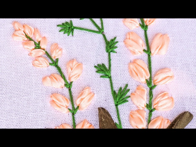 Hand Embroidery | Flower Pattern with Ribbon, Cotton Floss Threads | HandiWorks 85