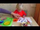 Развивающее занятие для детей 1, 2 и 3 лет. Рисуем штампами. Обучающие игры.