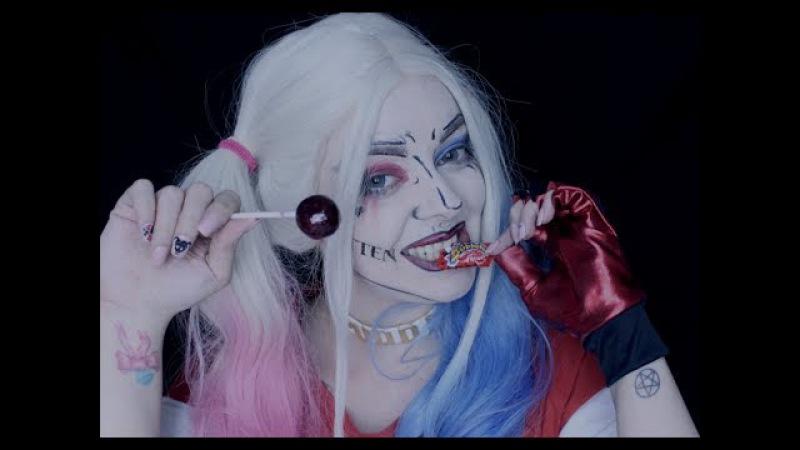 🎧 🍭 👅 ASMR Binaural Bubblegum Lollipop Harley Quinn Wet Mouth Sounds