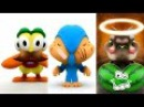 Pocoyo Boy, Pato Duck and Tom Cat Eat and Dancing For Kids HD