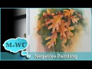 Negative Painting Leaves in Watercolor