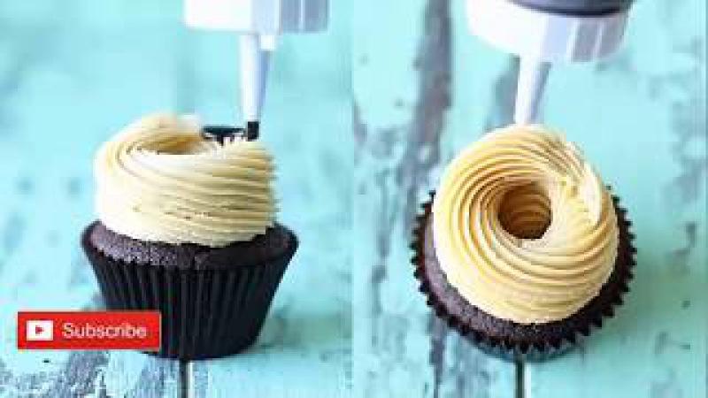 Chocolate Peanut Butter cupcake Recipe at Home   Recipes World 🍰🍰