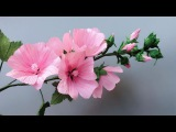 ABC TV How To Make Lavatera Rosea Paper Flower From Crepe Paper - Craft Tutorial