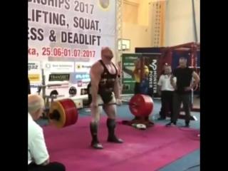 Петр Петраш, попытка потянуть 410 кг