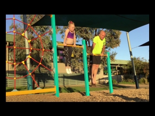 Dad Tries to Copy Daughters Gymnastic Moves
