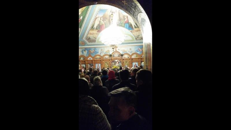 Пасхальное ночное Богослужение в Св. Никольском Храме, Запорожье 2017г