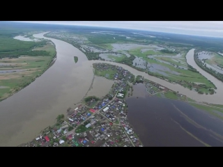 Затопленные поля и дороги Усть-Ишимского района