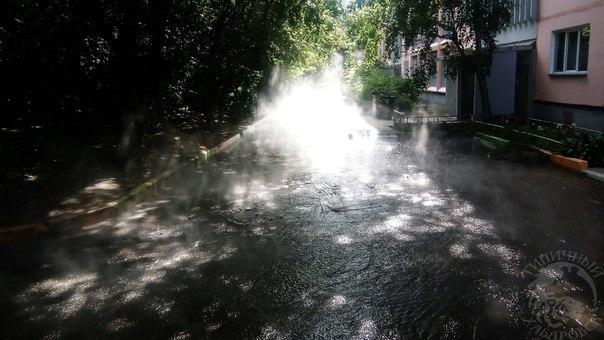 На улице Блюхера в Хабаровске сегодня горячо