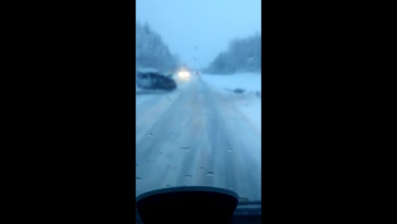 Последствия ДТП на трассе М8, 1104 км, Брин-Наволок