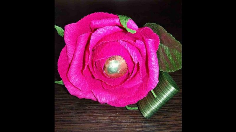 Подробный мастер класс по изготовлению конфетной розы Фридом
