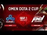 Cloud9 vs ProDota Gaming - map 1 - Omen Dota 2 Cup