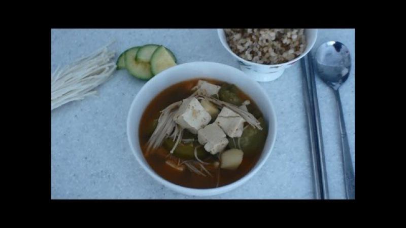 Суп из соевой пасты - твенджан-чжигге