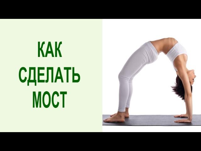 Асаны йоги - поза мост: как научиться делать мостик из положения лежа✦Йога для позвоночника✦Yogalife