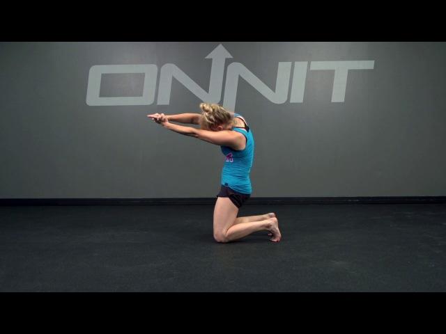 Kneeling Gunslinger Tilt to Clasped Hand Chest Opener Bodyweight Exercise kneeling gunslinger tilt to clasped hand chest opener