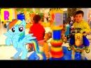 Лошадка Радуга Аттракционы Карусель Развлечение детей Лошадка Радуга мультик д...
