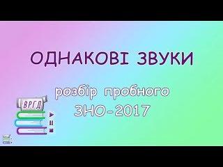 11. ФОНЕТИКА. ОДНАКОВІ ЗВУКИ || Розбір пробного ЗНО-2017 || ВРГД