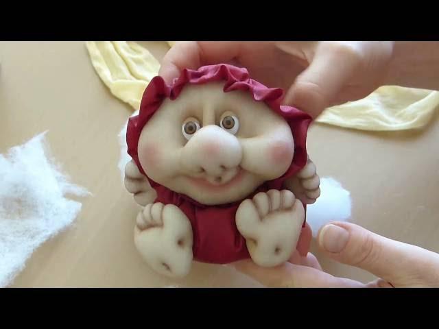 Кукла неваляшка из колготок. Чулочная техника. Doll from stocking, Roly-poly doll.