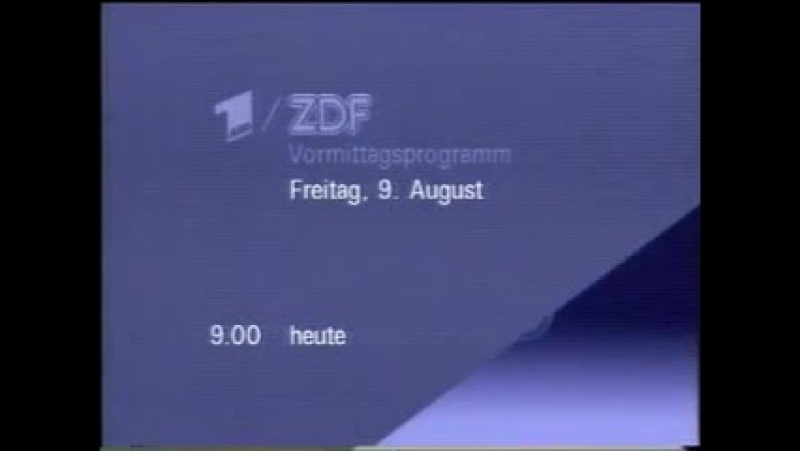 Программа передач конец эфира смена настроечных таблиц (ZDF, 8.08.1991) » Freewka.com - Смотреть онлайн в хорощем качестве