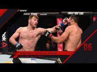 UFC Top 10 KOs of 2016 #6 Stipe Miocic KO Fabricio Werdum