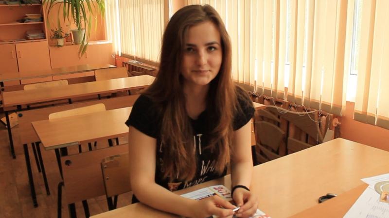Выпускница школы г.Карачева о процедуре ЕГЭ и своих планах на будущее