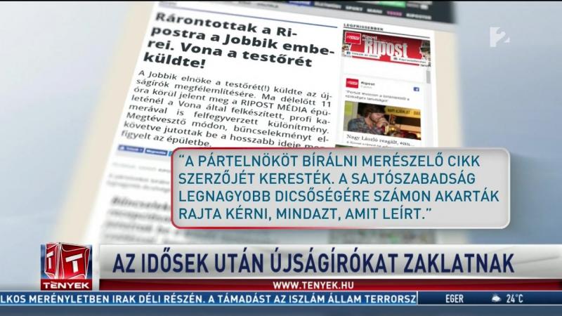TV2 Nyugdíjasok után most már újságírókra támad a Jobbik
