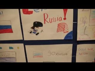 Дети поддержали сборную России рисунками
