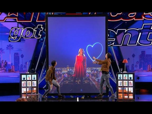 Tony Jordan - French Twins: GROUNDBREAKING Hi-tech Magic!! | America's Got Talent 2017