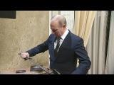 Владимир Путин посмотрел фильм «Викинг» вместе ссоздателями картины (30 декабря 2016)