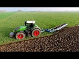 Fendt 1050 vario + 8 furrow Lemken Diamant 11 On-Land Plough  KMWP Ploegen  Pfl