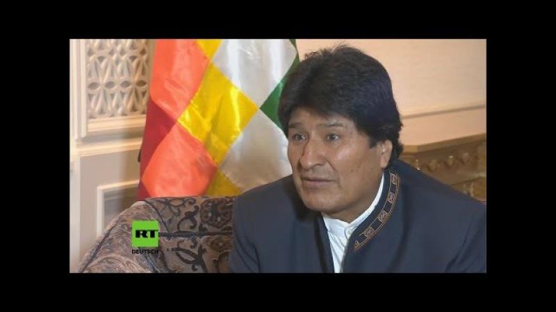 """Evo Morales im RT Interview """"Was gerade in Venezuela passiert ist ein Staatsstreich"""