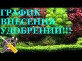 ГРАФИК ВНЕСЕНИЕ УДОБРЕНИЙ в аквариум!
