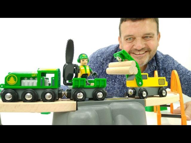 Trenes infantiles 🚉 Juguetes nuevos.Ferrocarril de juguete. Brio. Vídeos de juguetes para niños