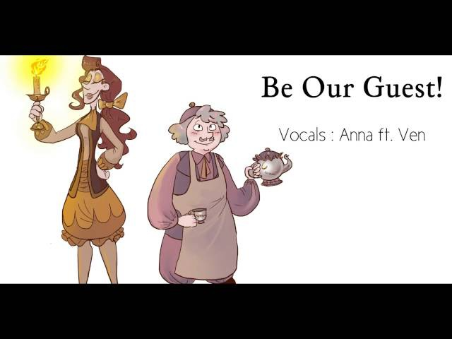 Be Our Guest female version genderbender Anna ft Ven 『Beauty And The Beast』