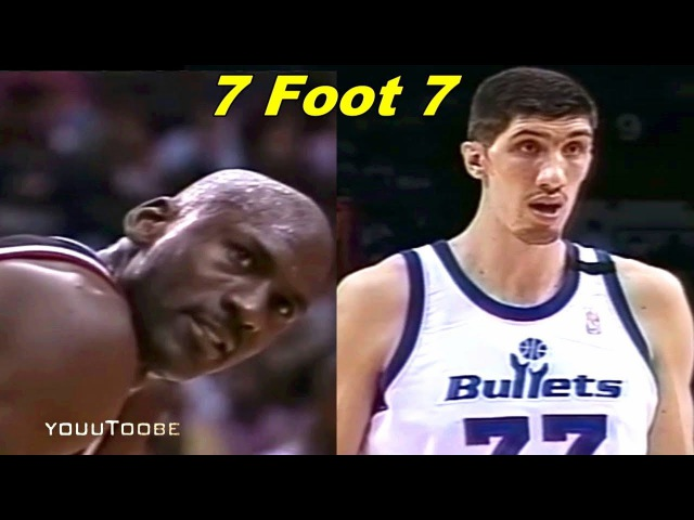 Michael Jordan Dunks on ''Tallest Player Ever'' in NBA History 7-7 Gheorghe Muresan!