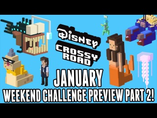 Disney Crossy Road January Weekend Challenge Preview Part 2! New Challenges! Finding Dory Pirates