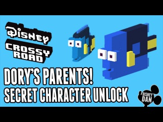 Disney Crossy Road Secret Character - Dory's Parents Charlie Jenny! (Warning Possible Glitch!)