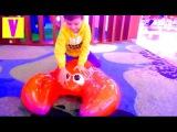 Детский РАЗВЛЕКАТЕЛЬНЫЙ центр ГОРКА БАТУТ игровая комната Ривьера Москва Видео для детей HappyVova
