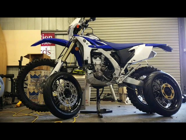 2015 WR450F Motard Conversion in less than 5 minutes